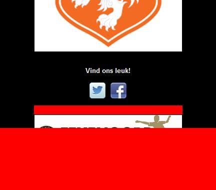 Rood vlak onderzijde webpagina