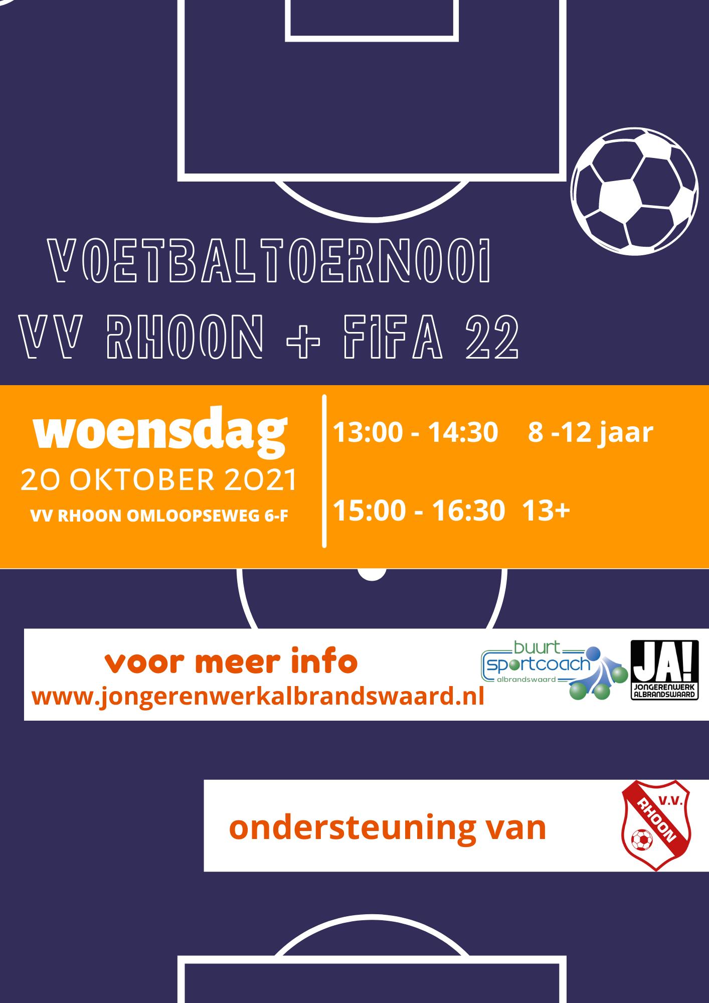 Woensdag 20 oktober voetbaltoernooi   FIFA22